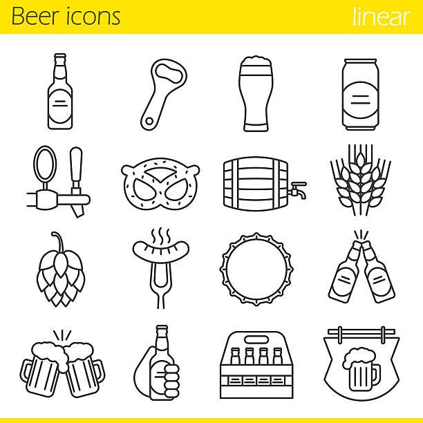 Bier-Symbole – Vektorgrafik