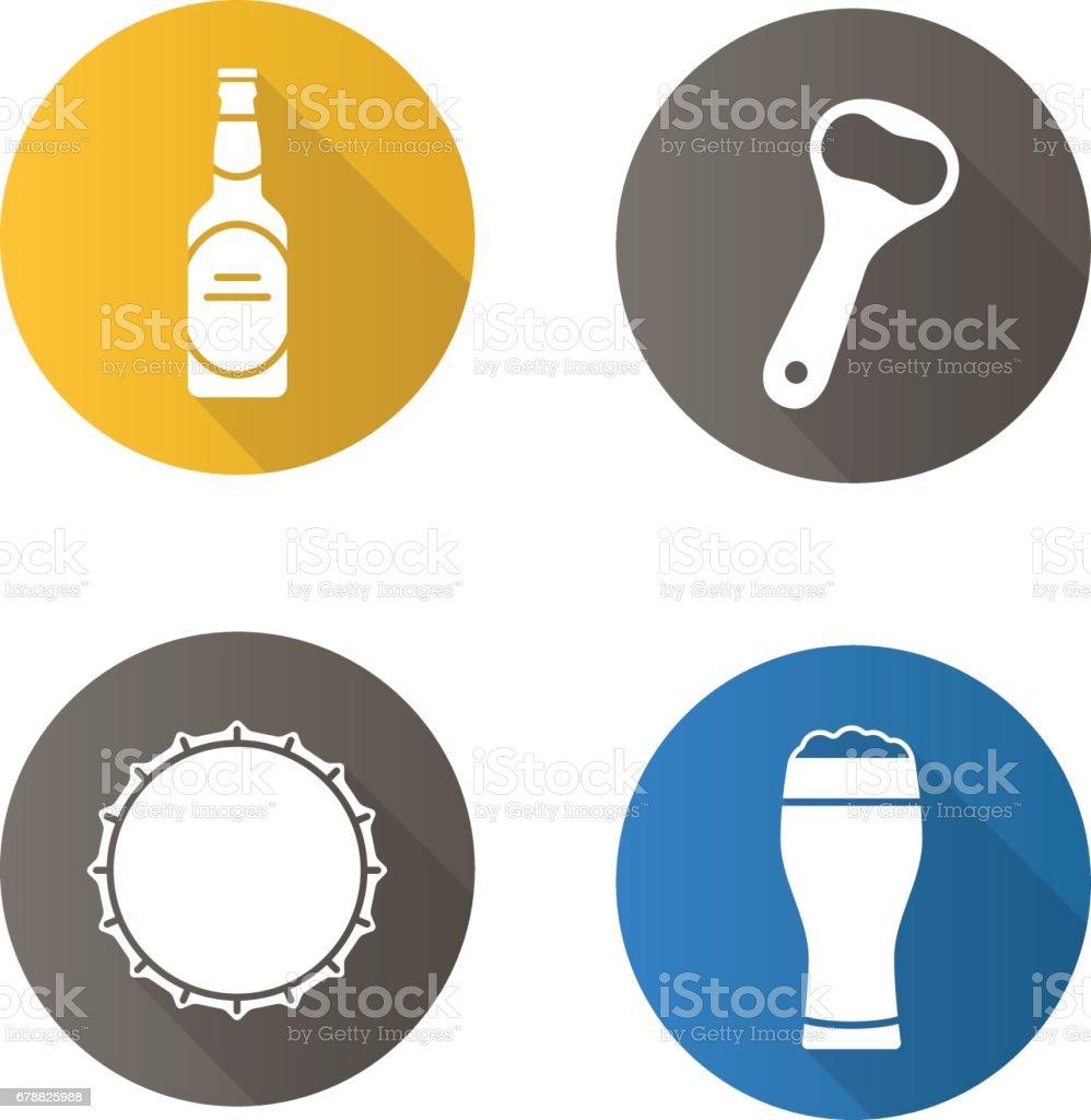 Icônes de la bière icônes de la bière – cliparts vectoriels et plus d'images de bière libre de droits