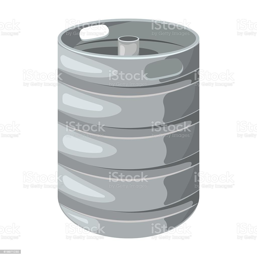 Beer keg on a white background. – Vektorgrafik