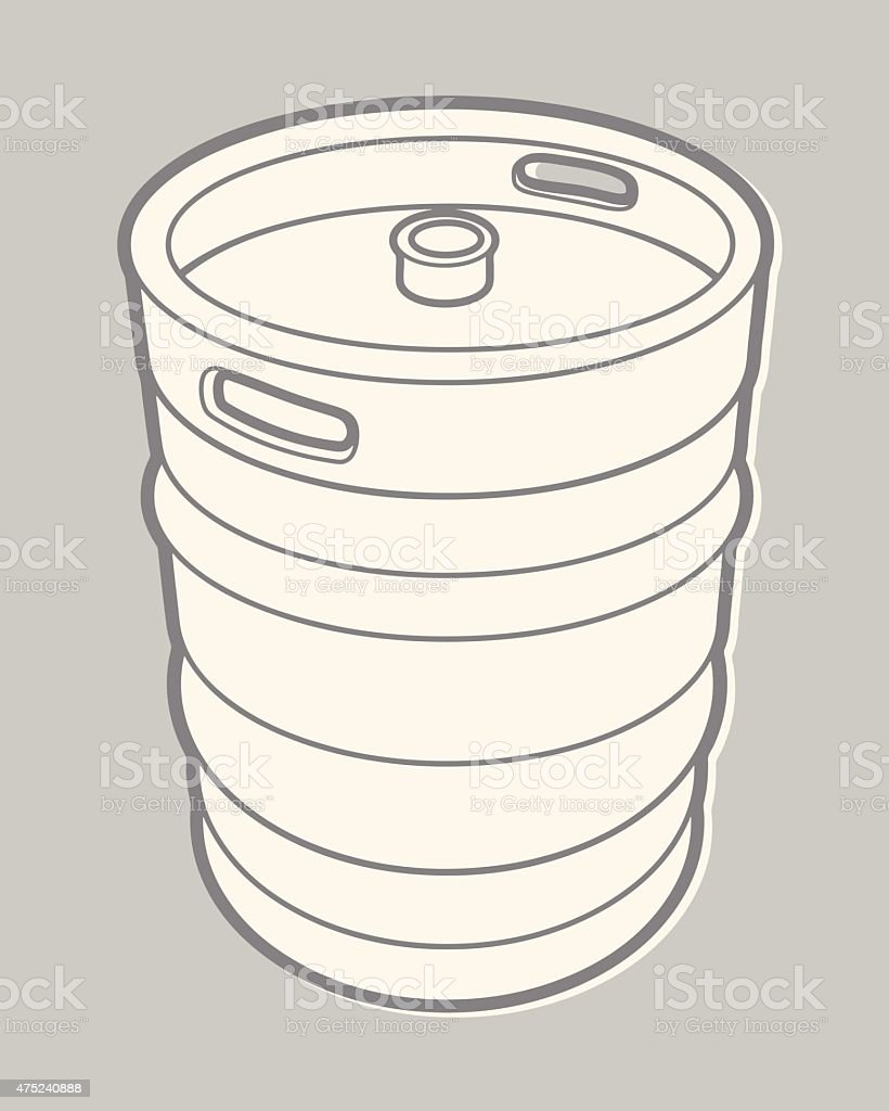 Beer Keg vector art illustration