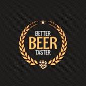 Beer Label Reward Logo Design Background
