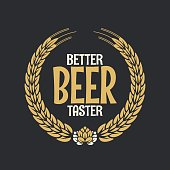 Beer Label Reward Logo On Dark Background