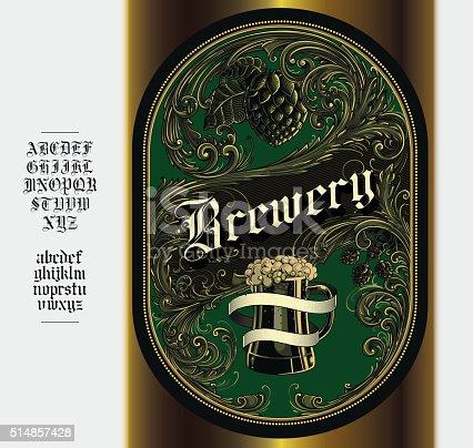Beer Bottle Label, eps9