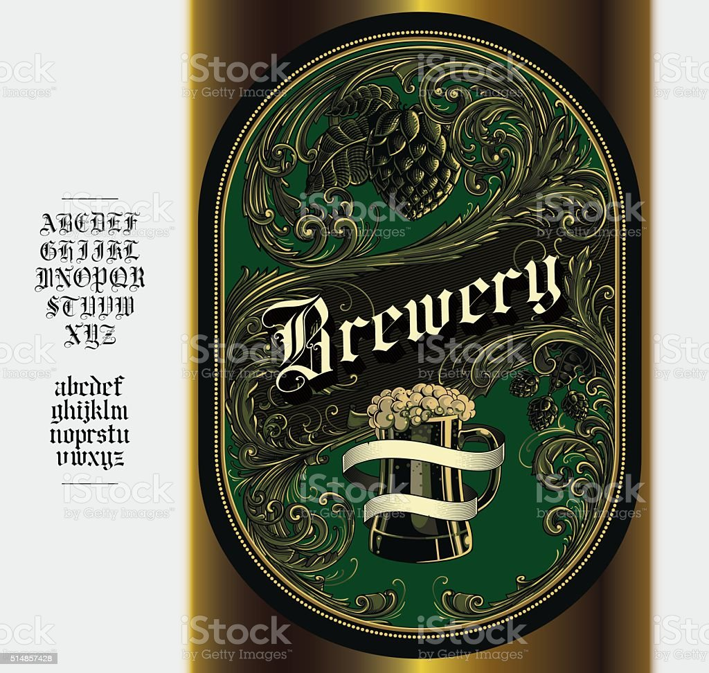 Beer Label vector art illustration