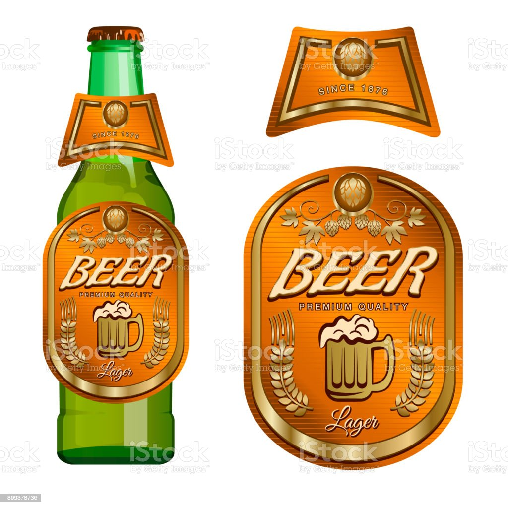 beer labels template vector illustration stock vector art more