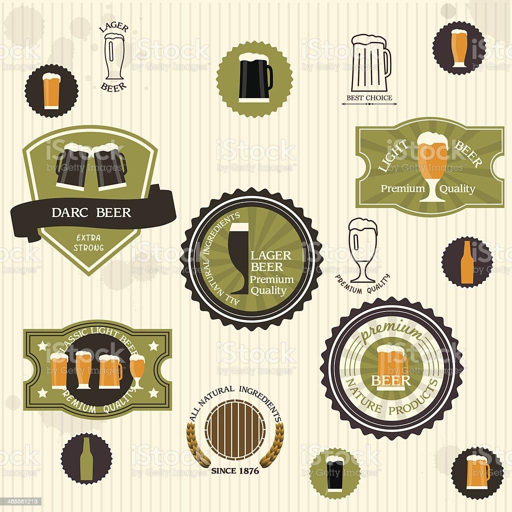 Beer Labels royalty-free stock vector art