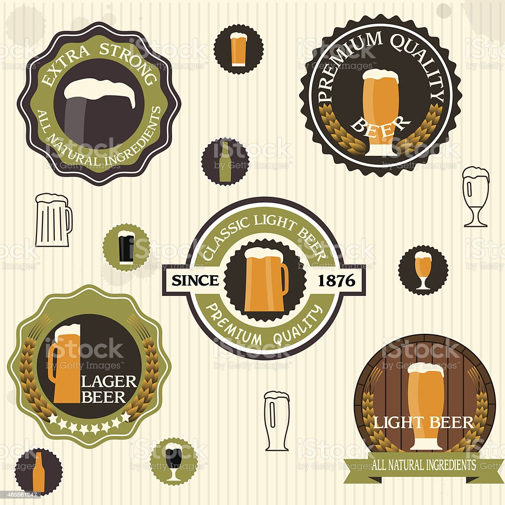 Beer Labels royalty-free stock vector art