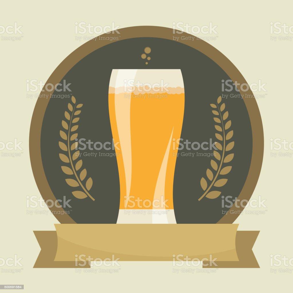 Beer labels vector art illustration