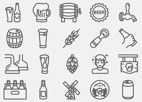 Beer Line Icons