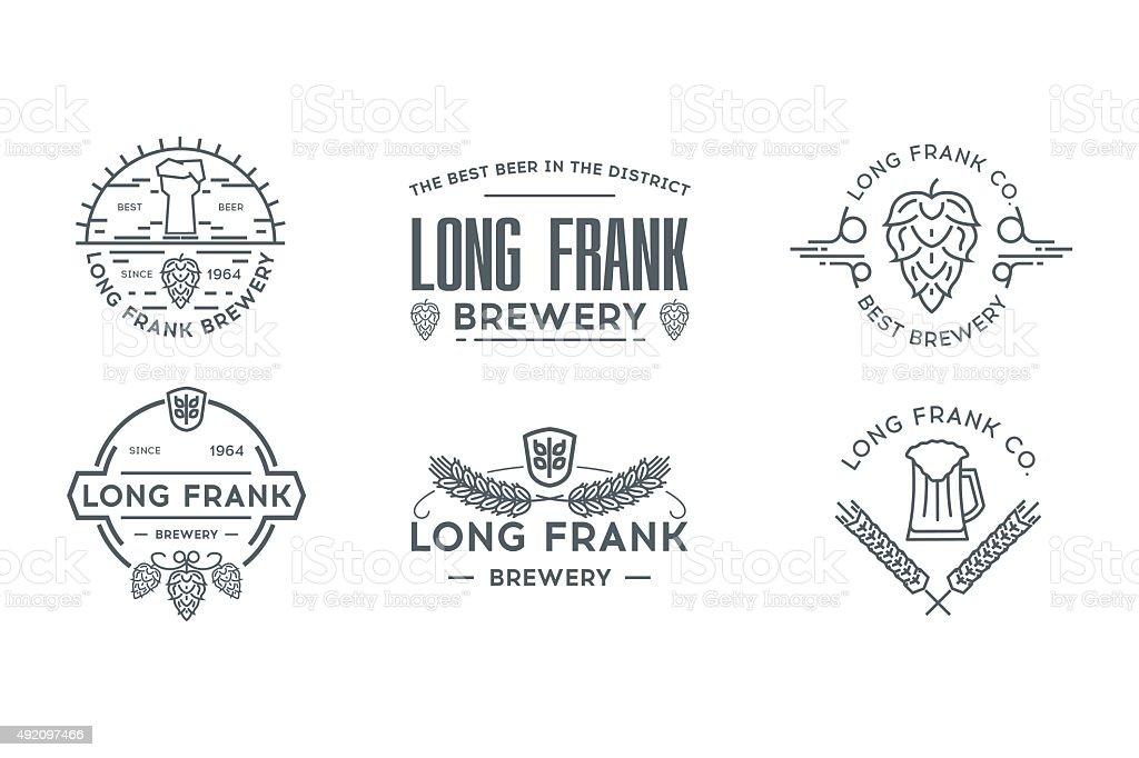 Beer line logo template. Stock vector. vector art illustration