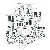 Pub logo, Beer menu, Drink, Bar - Drink Establishment, Mug