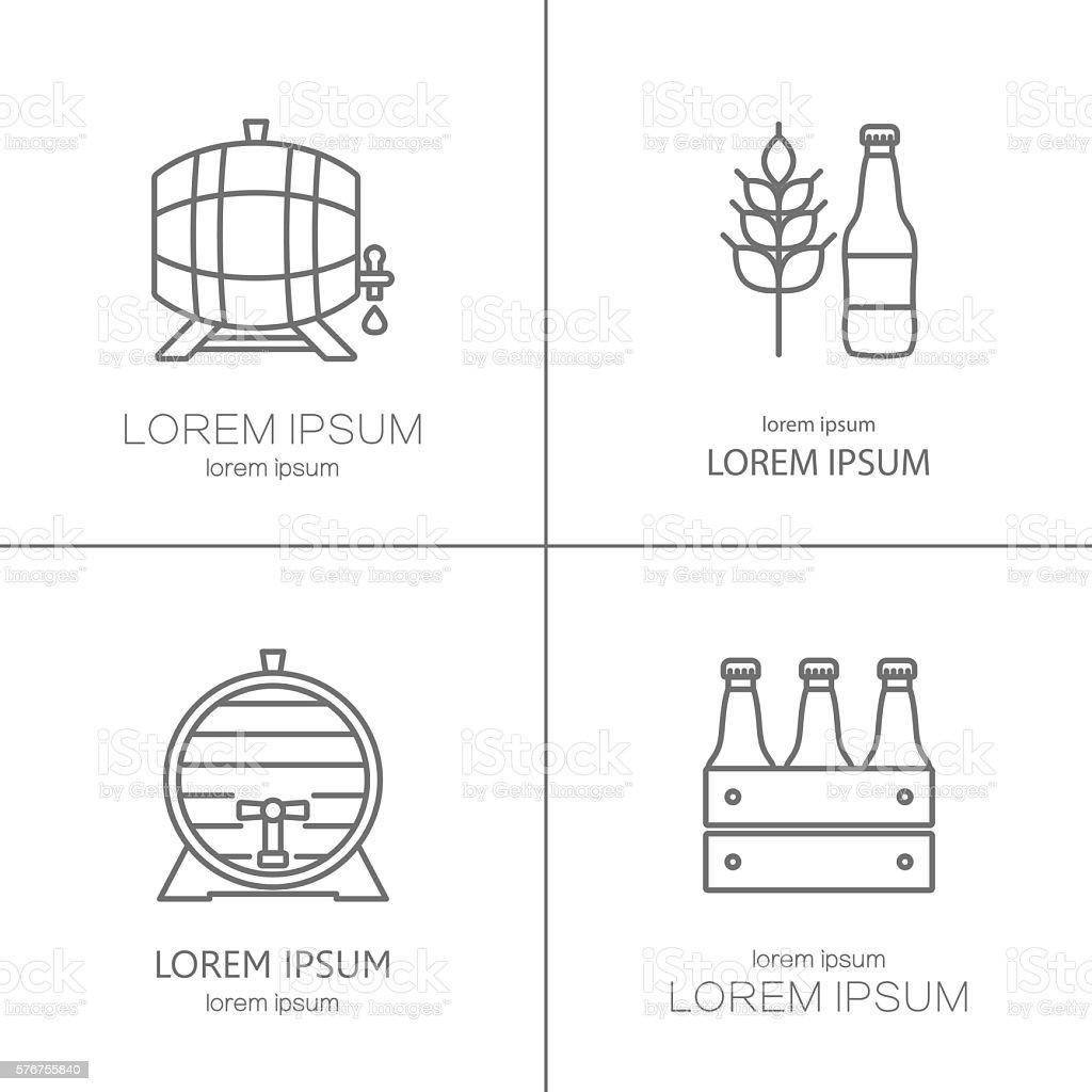 Beer logos design vector art illustration