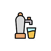 Beer machine icon. Simple color with outline vector elements of international beer day icons for ui and ux, website or mobile application on white background