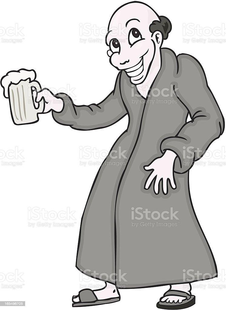 Beer Monk royalty-free stock vector art