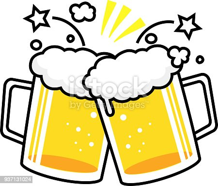 Beer Mug Cheers Stock Vector Art & More Images of Alcohol ...