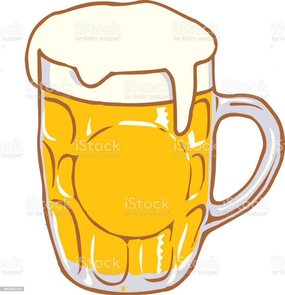 Beer Mug Verre Coupe Vector Cartoon Clipart Vecteurs Libres De Droits Et Plus D Images Vectorielles De Biere Istock
