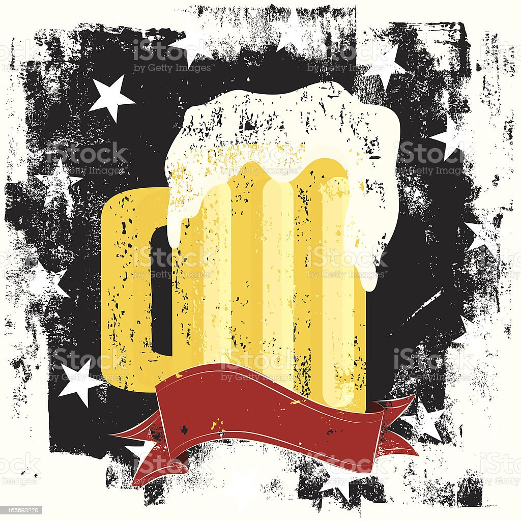 beer mug insignia royalty-free stock vector art