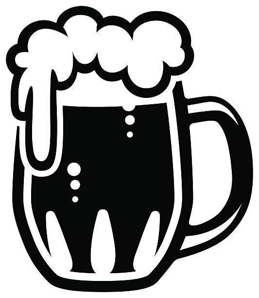 Caneca de cerveja. - ilustração de arte em vetor