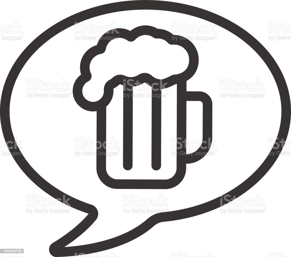 Beer order icon vector art illustration