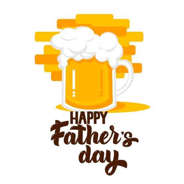 Bier Party flach Stil-Ikone für Poster, Banner, Logo, drucken. Krug Bier Symbol für Grußkarte für Vatertag, St.Patricks Day, Oktoberfest, Geburtstag oder Bier Party Feier – Vektorgrafik