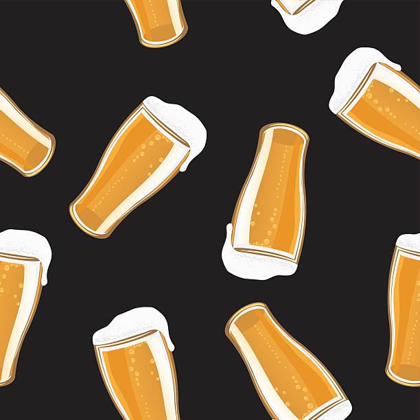 Beer Pint Background vector art illustration