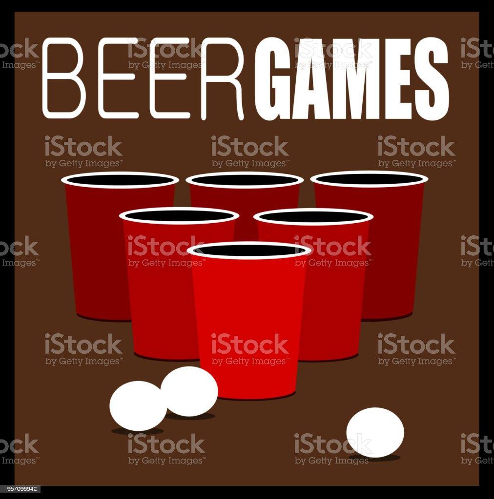 Bier Pong Spiele Stock Vektor Art und mehr Bilder von Alkoholisches ...