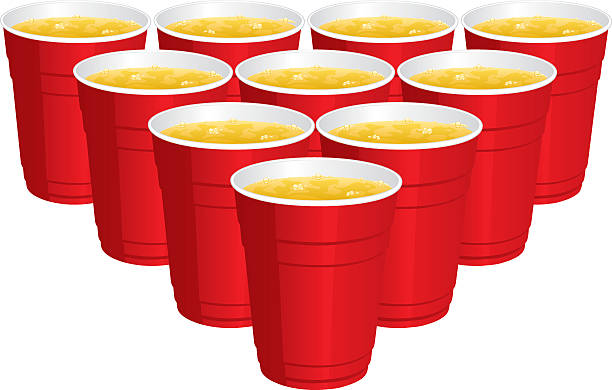stockillustraties, clipart, cartoons en iconen met beer pong - beirut