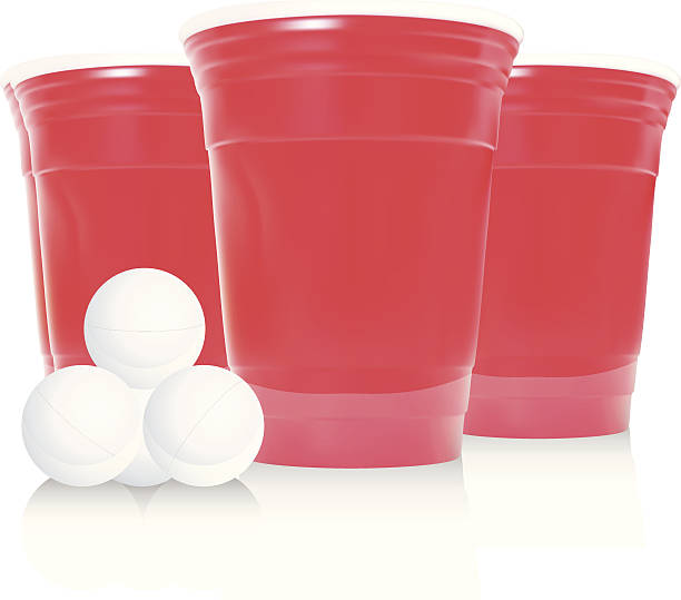 stockillustraties, clipart, cartoons en iconen met beer pong - vector - beirut