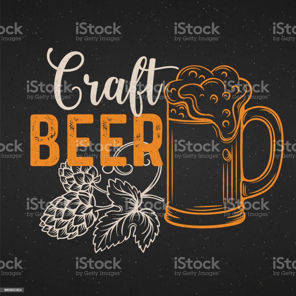 beer poster vector art illustration