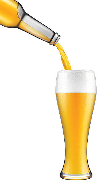 One Line Art Beer : Royalty free pouring beer clip art vector images