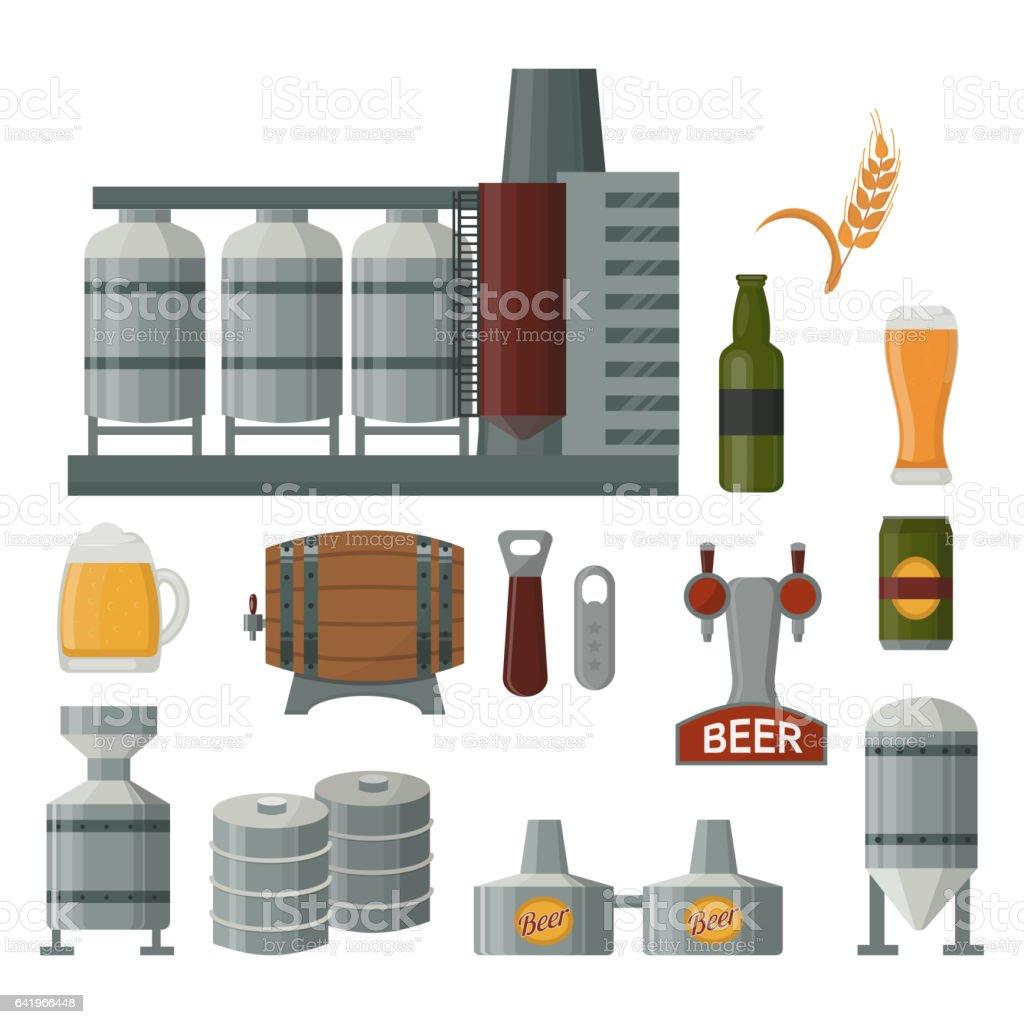 Beer production vector illustration vector art illustration