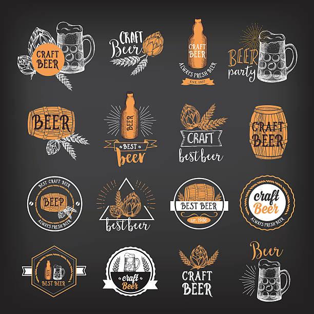 Restaurant And Bar Design: Best Craft Beer Illustrations, Royalty-Free Vector