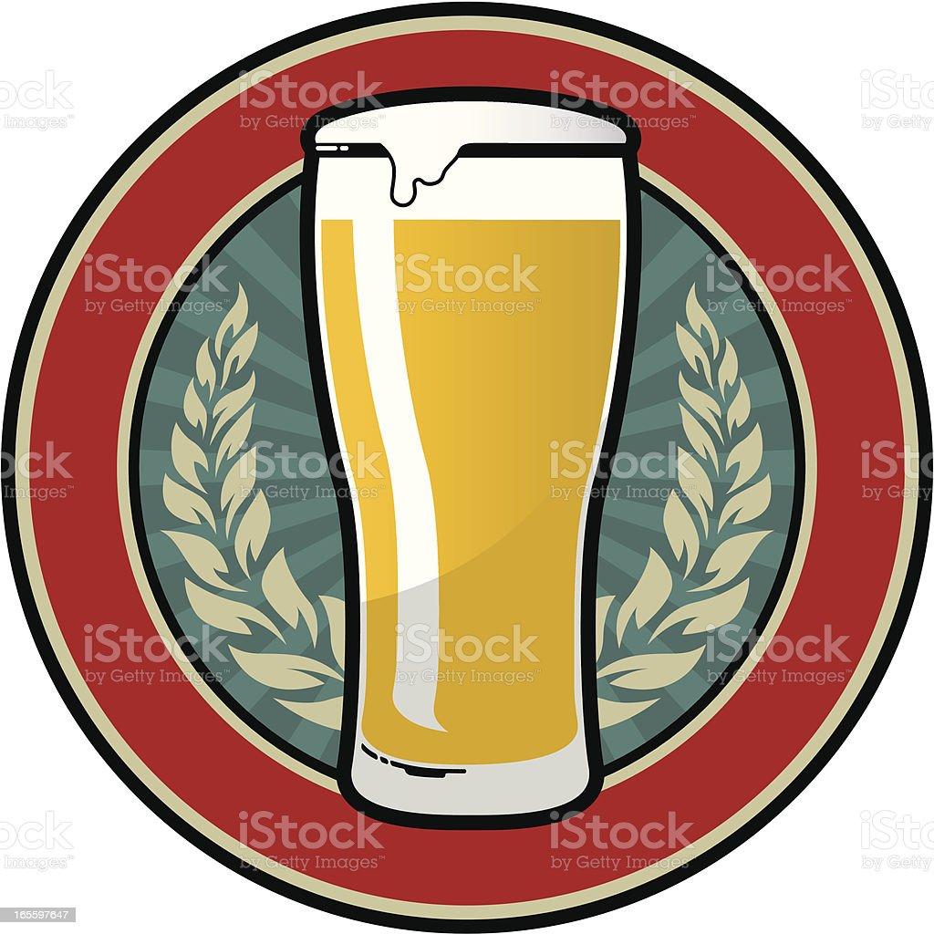 Cerveja emblema retrô ilustração de cerveja emblema retrô e mais banco de imagens de bandeira royalty-free