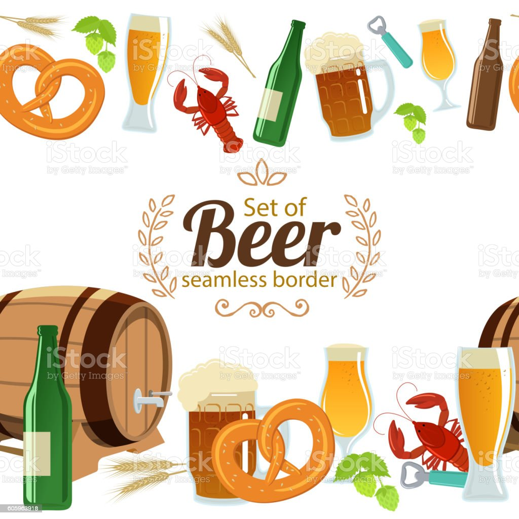 Beer Borders And Frames Vector - Clipart Vector Design •