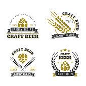 Beer set of emblems.