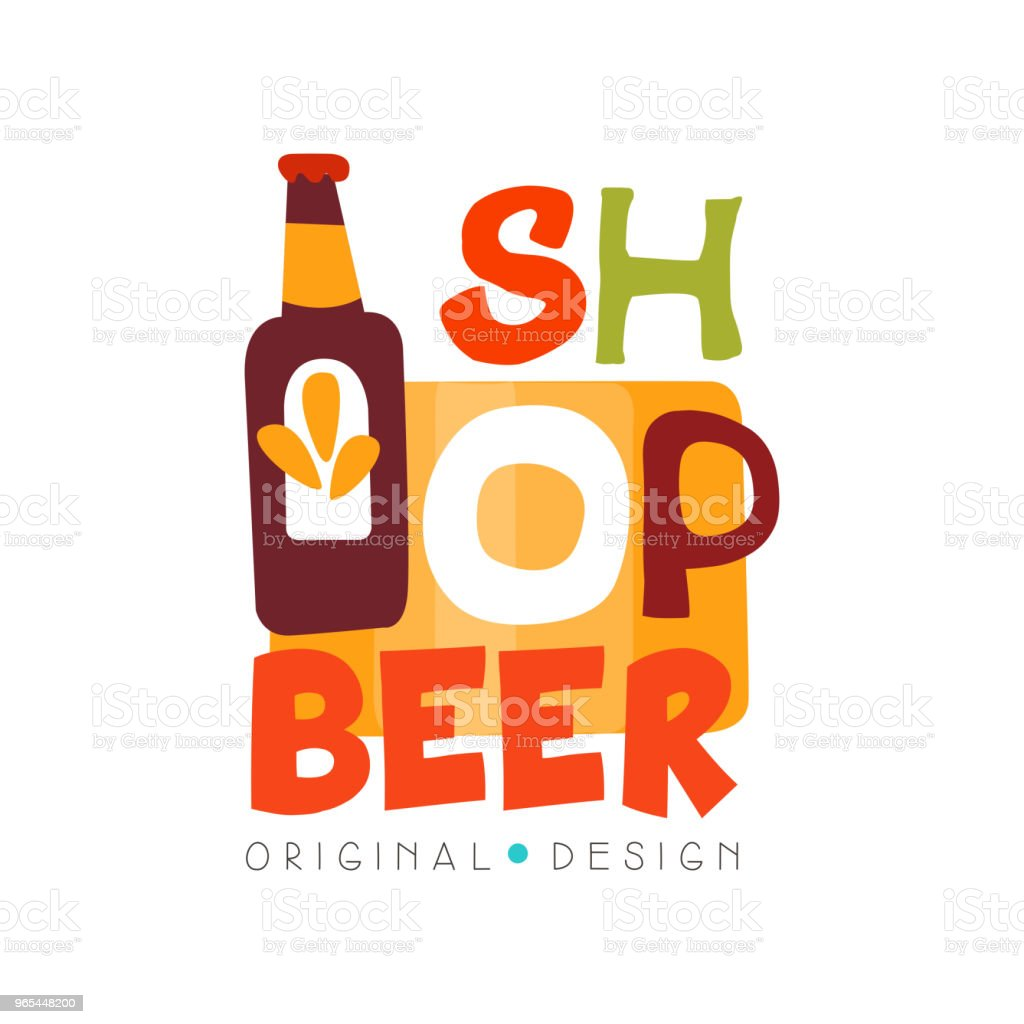 Beer shop logo design template, beer house, bar, pub, brewing company badge vector Illustration on a white background royalty-free beer shop logo design template beer house bar pub brewing company badge vector illustration on a white background stock vector art & more images of archival