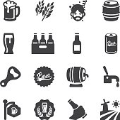Beer Silhouette icons