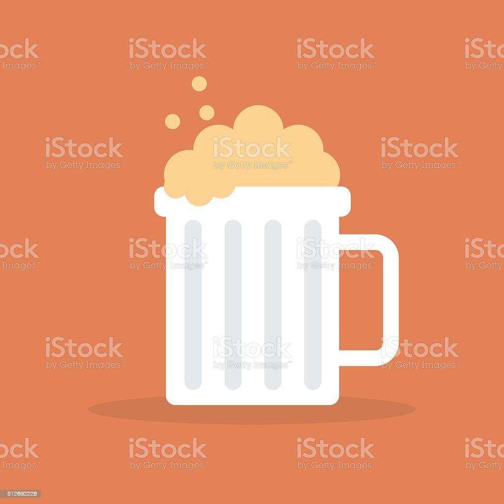 Bierkrug Symbol-VEKTOR – Vektorgrafik