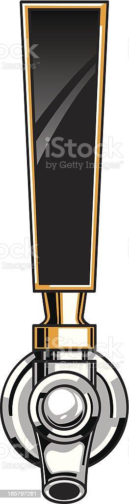 beer tap vector art illustration
