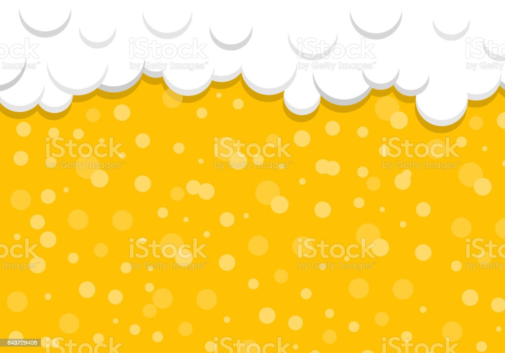 Beer texture with bubbles and foam. Vector. vector art illustration