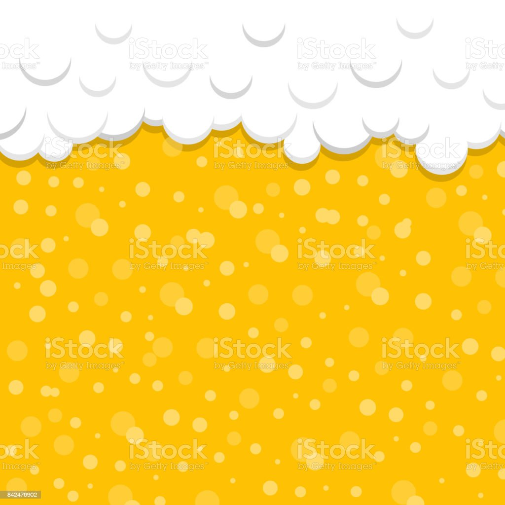 Beer texture with foam and bubbles. Vector. vector art illustration