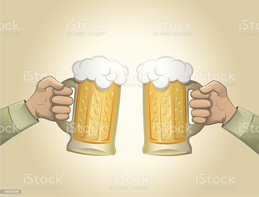 Beer toast royalty-free stock vector art