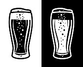 istock Beer Tulip Glass Icon Black and White Two Colour Option 1167163642
