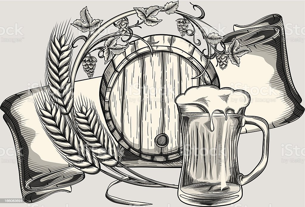 Beer vector art illustration
