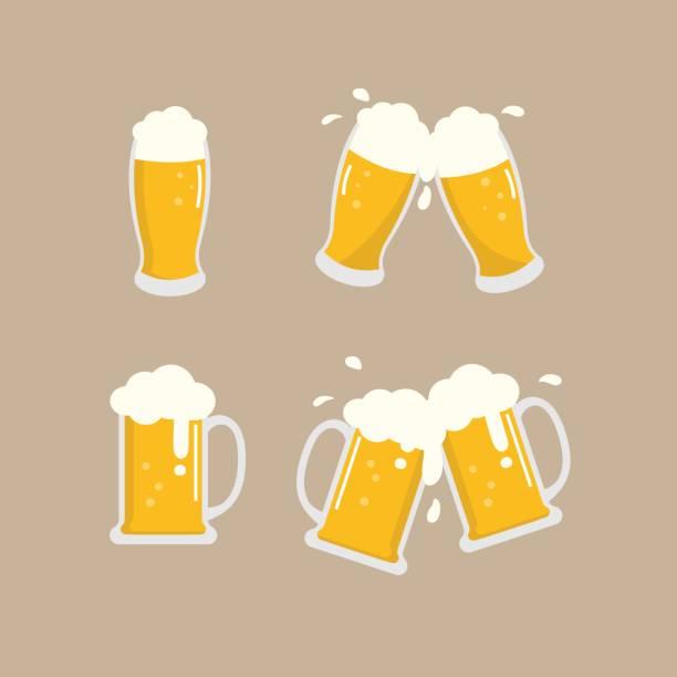 beer vector beer vector, cheers beer glass stock illustrations