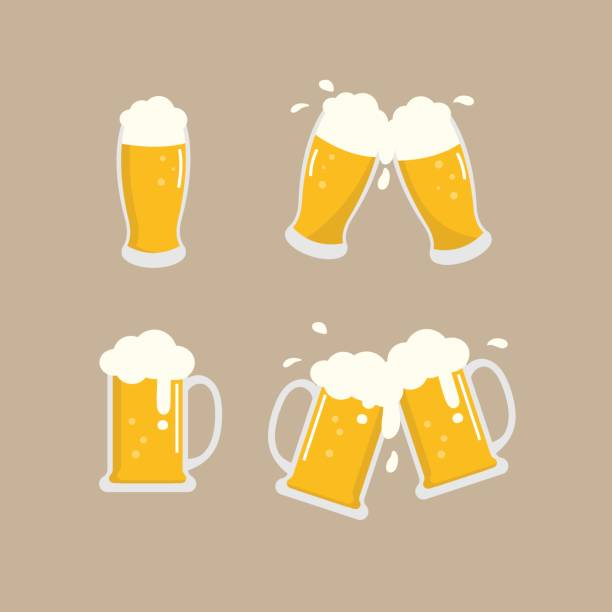 beer vector beer vector, cheers beer stock illustrations
