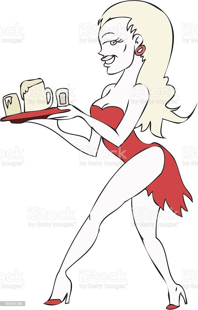 Beer Waitress royalty-free stock vector art