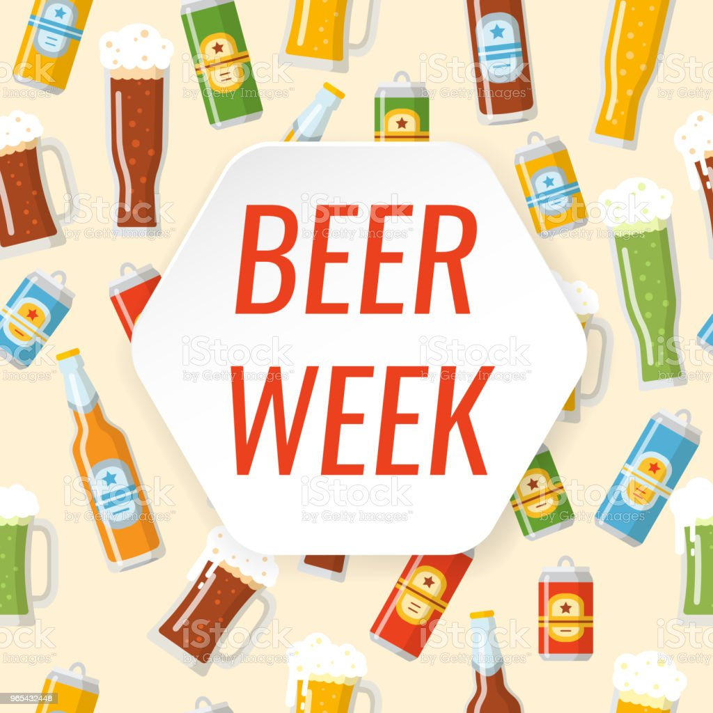 Beer week colorful poster royalty-free beer week colorful poster stock vector art & more images of alcohol