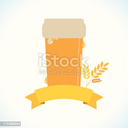 Beer with a banner