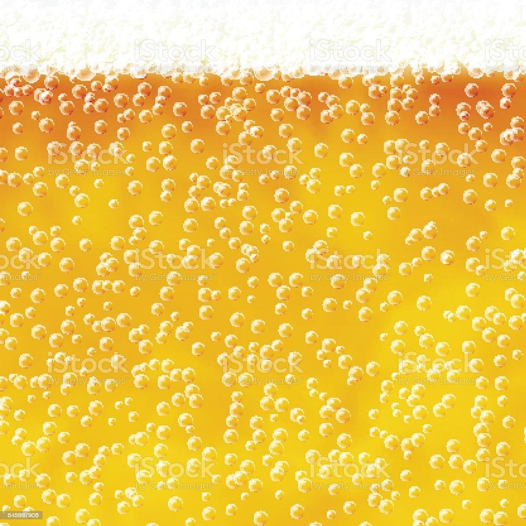 Beer with foam vector art illustration
